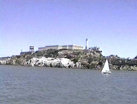 Leaving Alcatraz and looking back