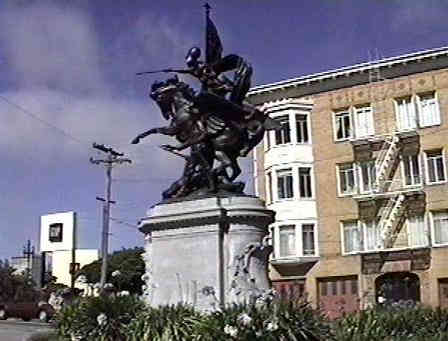 Statue at Dolores Street