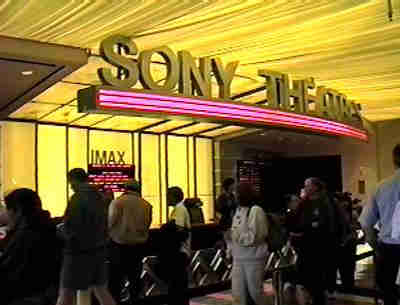 Ticket counter for Sony Theaters.
