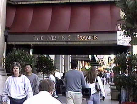 Entrance to the Westin St. Francis Hotel