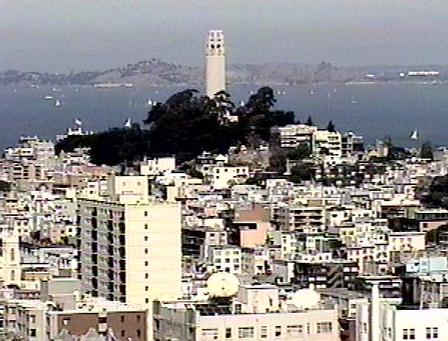 Looking to the north toward Coit Tower